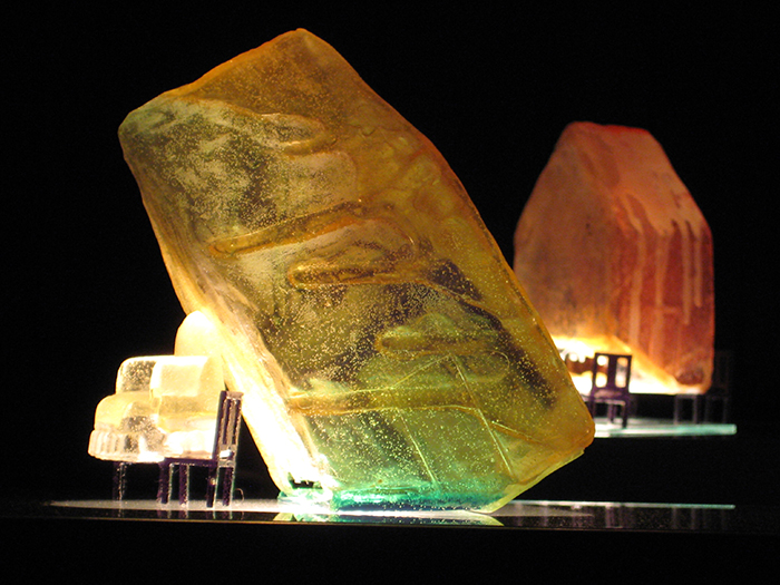 Houses, 2010, cast resin