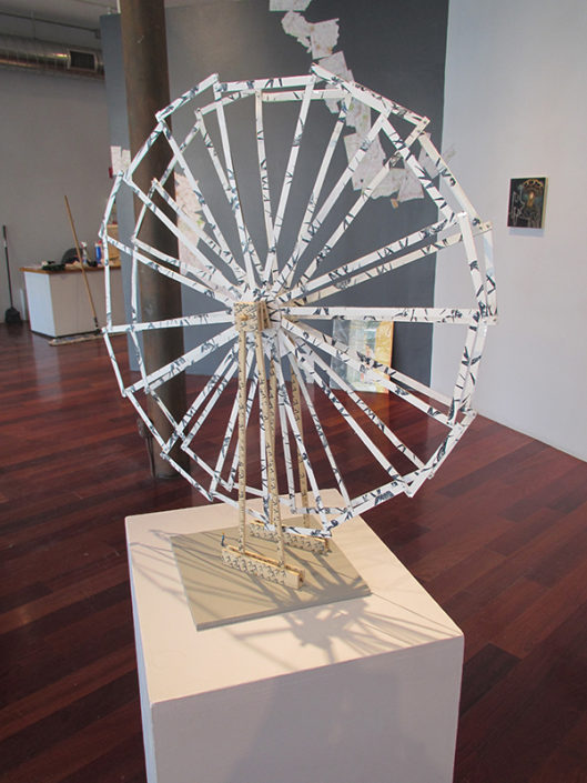 Ferris Wheel 4, 2014, installation view 12 Nights, Boston Sculptors Gallery
