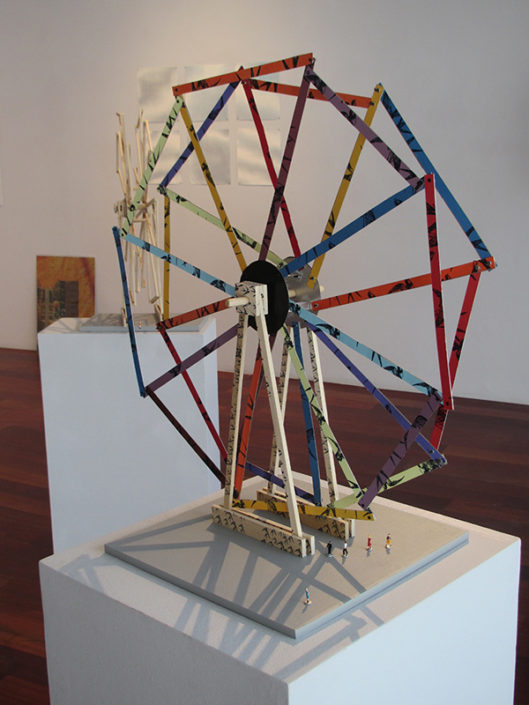 Ferris Wheel 5, 2014, installation view 12 Nights, Boston Sculptors Gallery
