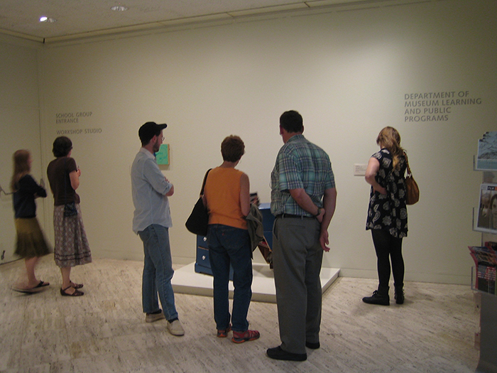 Untitled (blue), 2006, found object, installation view, Museum of Fine Arts, Boston, MA