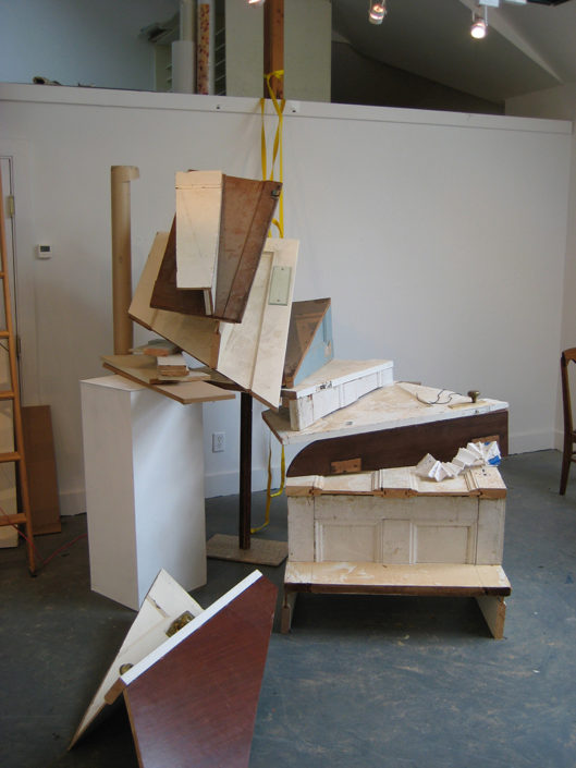 Up and Out, in process in the studio, 2012