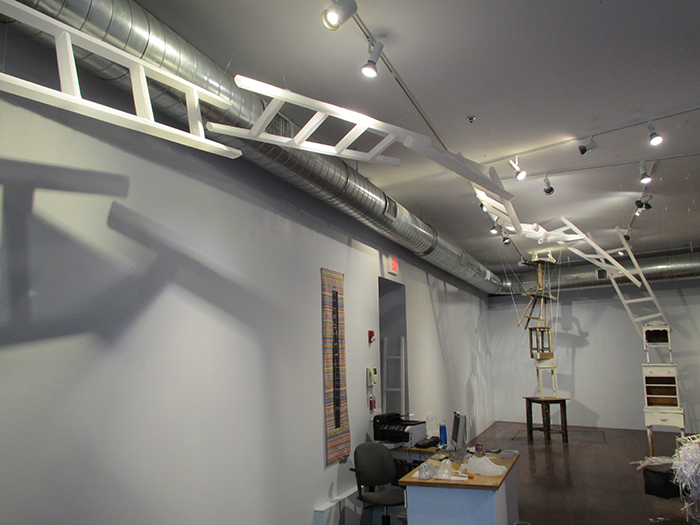 Steps installation at the Boston Sculptors Gallery, 2014