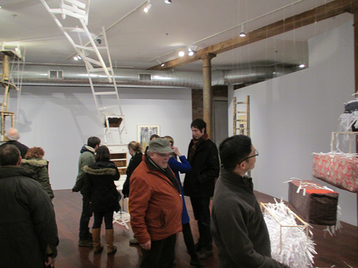 Steps opening at the Boston Sculptors Gallery, 2014