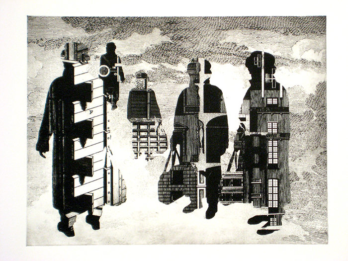 Immigrant Group 1, 2009, etching
