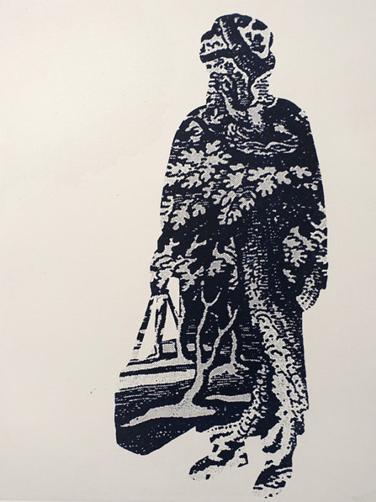 Immigrant Redux 2, 2016, etching
