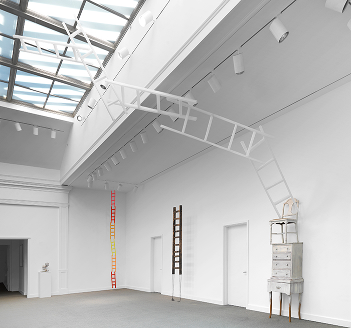 Up and Out, 2013, Installation view, Trustman Art Gallery, Simmons College, Boston, MA