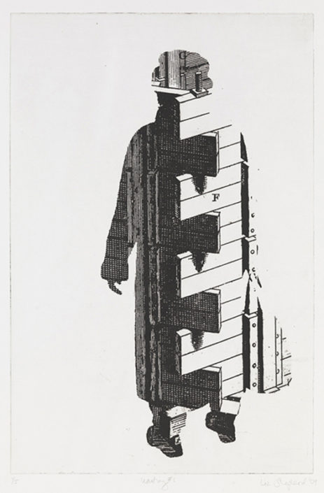 Immigrant 1, 2009, etching