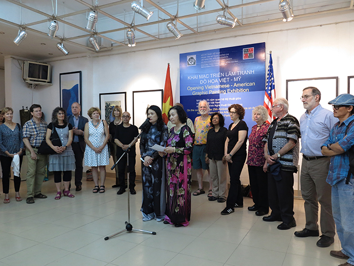 Opening ceremony, 2013, Contemporary Arts Center, Hanoi, VietNam